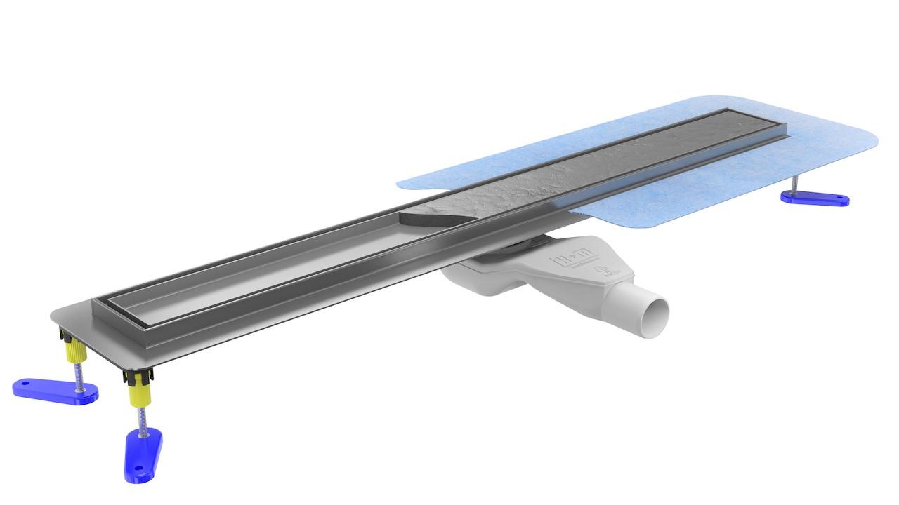 Odpływ liniowy 60cm Dexo z niskim syfonem w komplecie