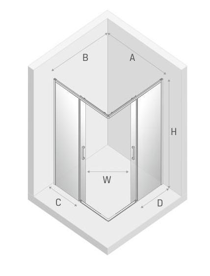 Rysunek kabina kwadratowa Prime