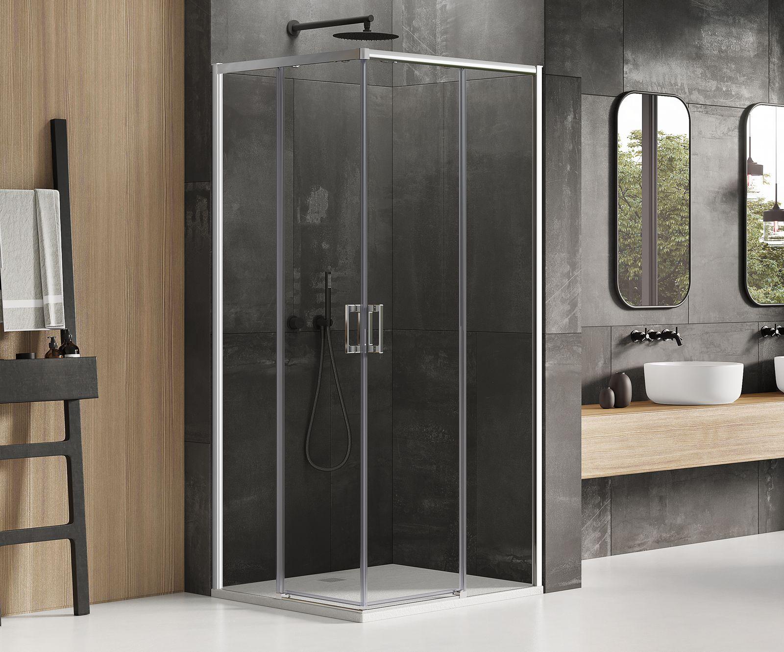 Kabina prysznicowa Prime New Trendy z drzwiami rozsuwanymi