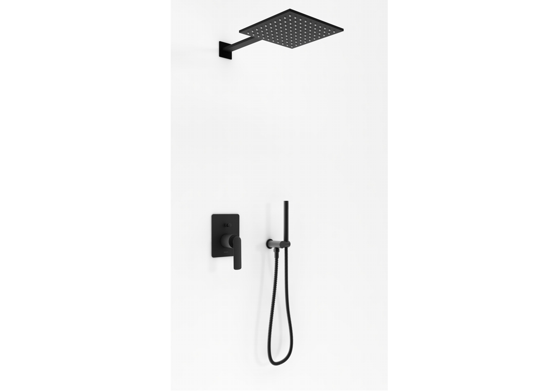 Zestaw prysznicowy podtynkowy z deszczownicą kwadratową Experience Black