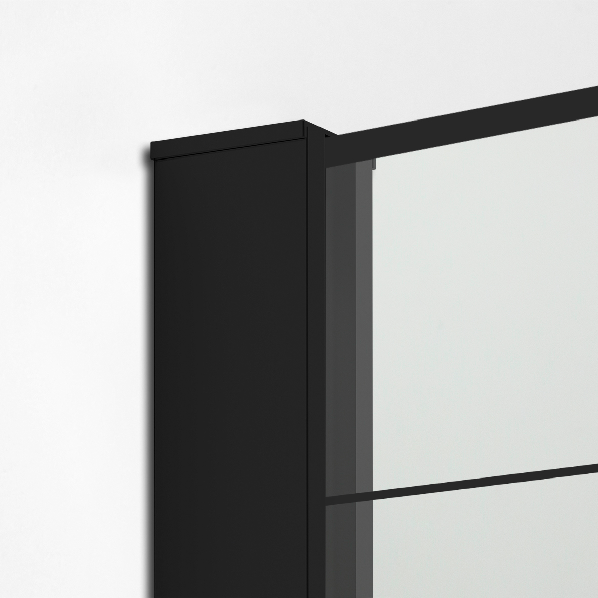 ścianka szklana New Modus Black wzór krata