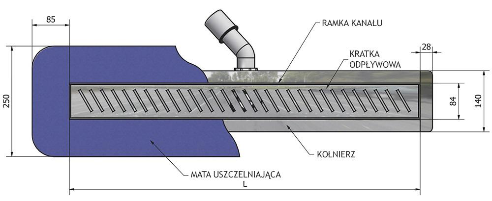 Jak działa odpływ liniowy firmy Wiper z syfonem 60 cm?