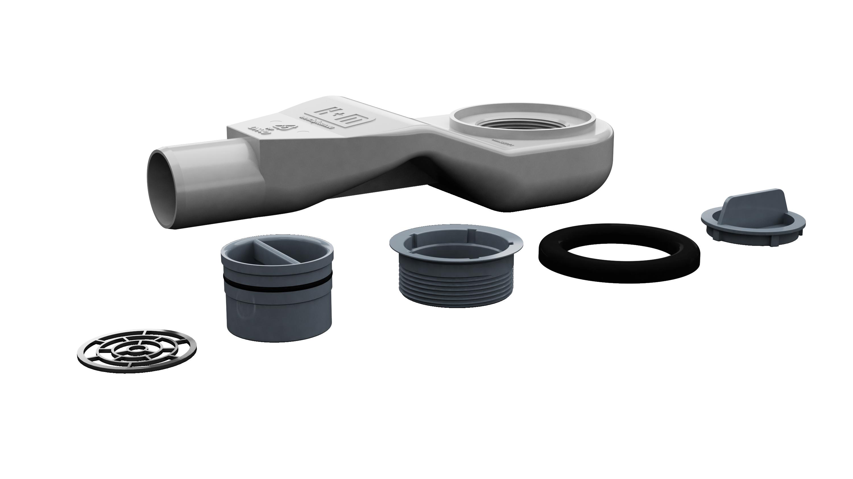 Niski syfon snake w komplecie odpływowym New Premium
