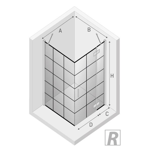 Rysunek techniczny New Renoma Black 90x90 prawa
