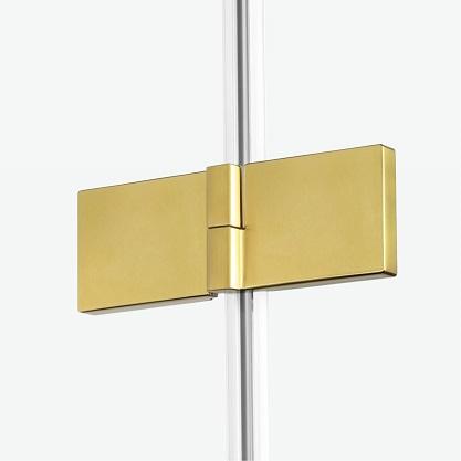 złote kabiny prysznicowe Avexa Gold