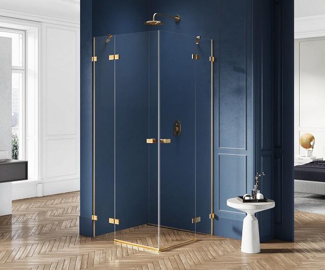 kabina prysznicowa złota