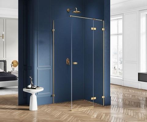 złota kabina prysznicowa